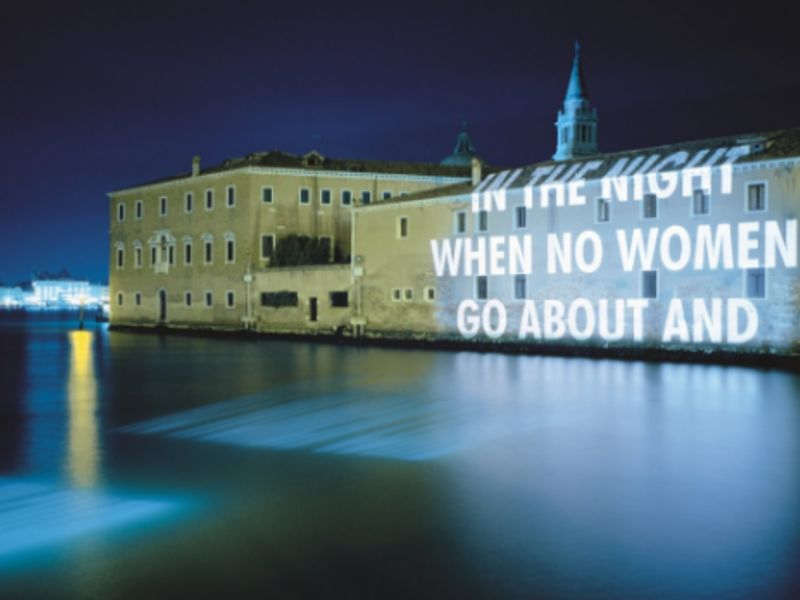 Jenny Holzer Shows New Light Projection Works At Blenheim Palace