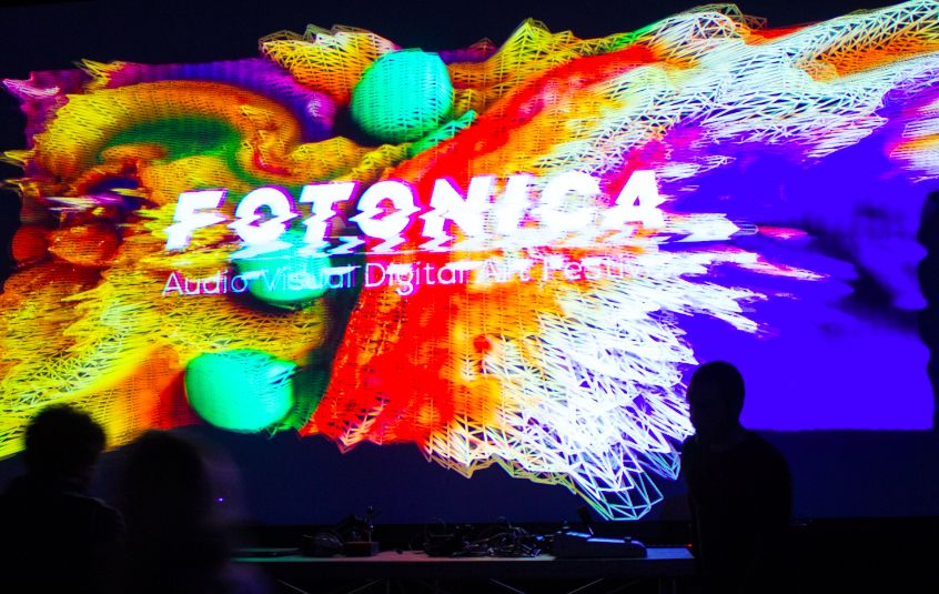 Domenico Barra at Errore Digitale, Fotonica Festival 2018