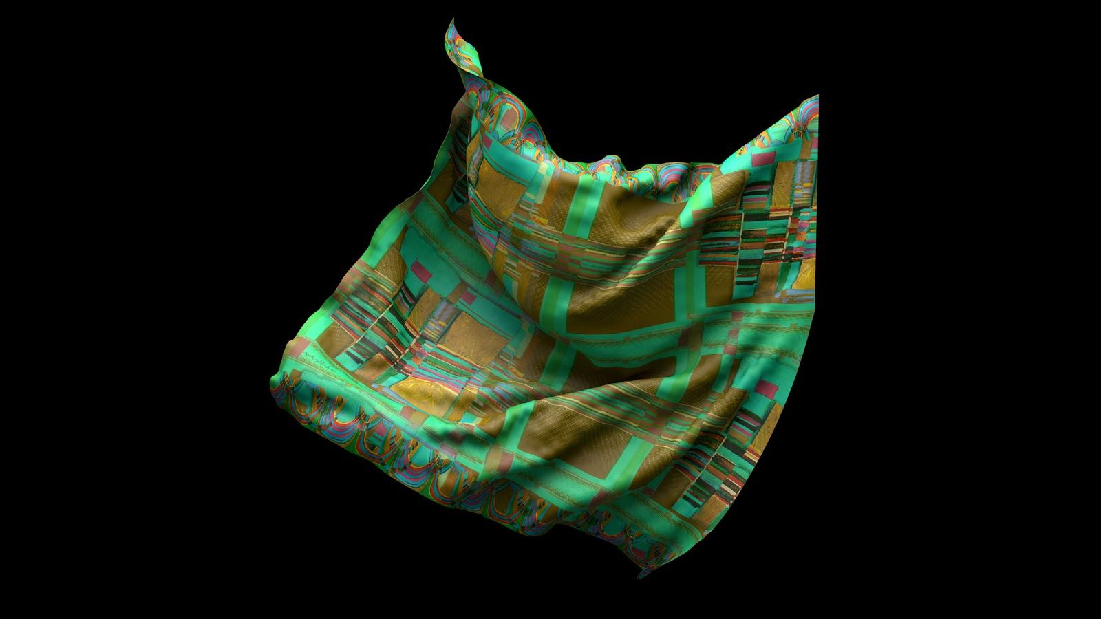 LoVid Aluminism artwork and silk scarf